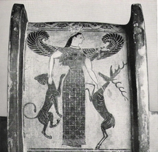 Artemis as Mistress of the Animals, Greek vase painting